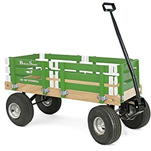 Berlin F410 Amish-Made Sport Ride-On Wagon, Emerald Green