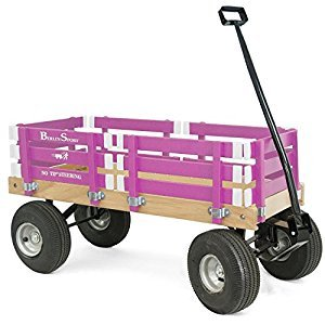 Berlin F410 Amish-Made Sport Ride-On Wagon, Hot Pink