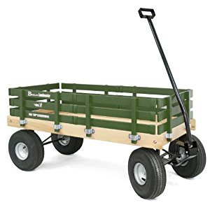 Berlin F600G Amish-Made All-Terrain Tires Loadmaster Wagon, Green