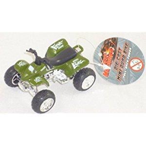 Street Machines 6cm Die Cast Mini Quad Bike - Pull Back Power - DGREEN (HL120) E