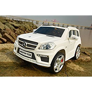 LICENSED MERCEDES BENZ GL63 AMG RIDE ON CAR FOR KIDS WITH REMOTE CONTROL. WHITE