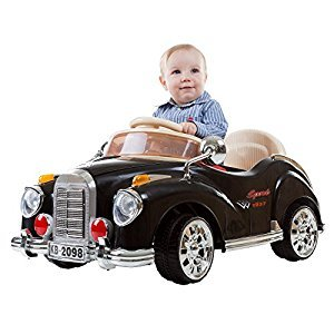 Lil' Rider 80-KB2098B Ride On Toy Car, Battery Powered Classic Car Coupe With Remote Control & Sound by Lil' Rider – Toys for Boys & Girls, 3 Year Olds & Up (Black)