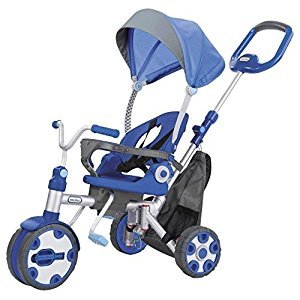 Little Tikes 640162 Fold 'N Go 4-In-1 Trike, Blue/Grey Toy