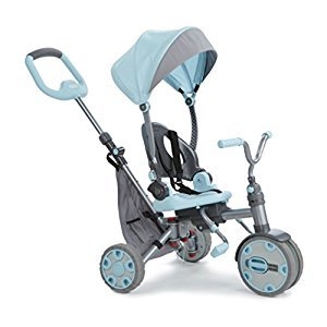 Little Tikes Fold 'N Go 4-in-1 Trike Deluxe Ride On, Light Blue/Grey(644603C)