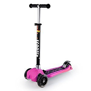 Kick Scooters for Kids,OUTAD Kids Stunt Scooter with Adjustable Handle Bars Music Play Flashing Wheels