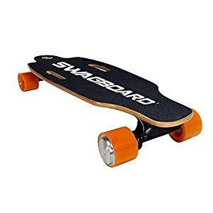Swagboard NG-1 NextGen Motorized Electric Skateboard with Wireless Remote, Black, 9