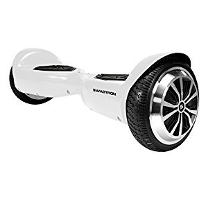 Swagtron T5 Self Balancing, Electric Hoverboard Perfect Starter Personal Transporter for Kids & Adults, White