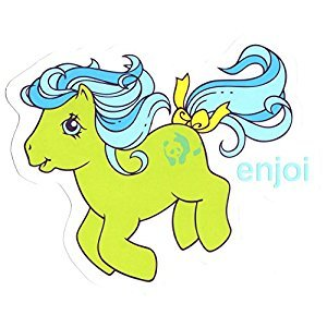 Enjoi X My Little Pony Skateboard Sticker Green - 10.5cm wide approx. skate board bmx guitar sk8 skateboarding new
