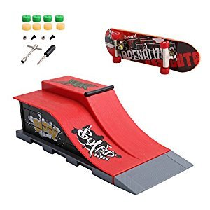 Kocome Skate Park Ramp Parts for Tech Deck Fingerboard Finger Board Ultimate Parks (E)
