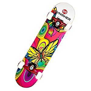 Punisher Skateboards 9009 Complete 31-Inch Skateboard with Canadian Maple, Butterfly Jive