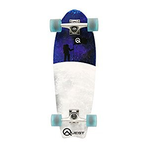 Quest Fishtail Cruiser Board Skateboard, 27-Inch
