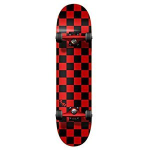 YOCAHER Blank Complete Skateboard 7.75-Skateboards, Checker Red