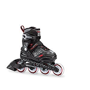 Bladerunner Bladerunner by Rollerblade Phoenix Boys Adjustable Fitness Inline Skate - Black/Red - 72 mm / 80A Wheels with ABEC3 Bearings - Expands 4 Sizes - Junior/Youth Value Performance Skates - US size Junior Youth 1 to 4, Black/Red, Size 1 to 4