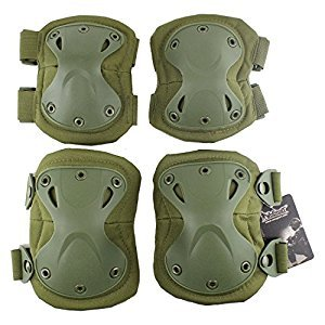 Protective King Kong Gear Safety Kneepad Elbow Pad for Outdoor Sports Hunting Paintball Airsoft