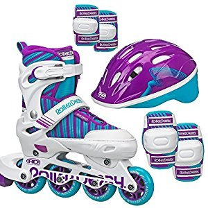 Roller Derby Carver Girls Inline/Protective Skate Pack Medium (3-6)