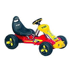 Lil' Rider 80-665B Battery-Powered Red Racer Go-Kart, Red
