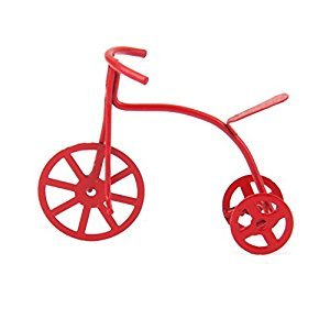 Red Metal Tricycle Bike for 1/12 Dollhouse Miniature