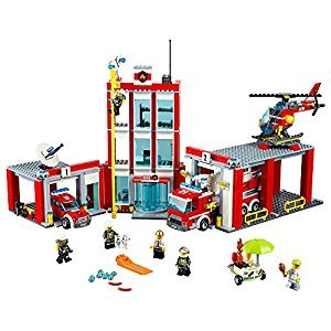 LEGO® City Fire Station 60110 Childrens Toy, Building Toy