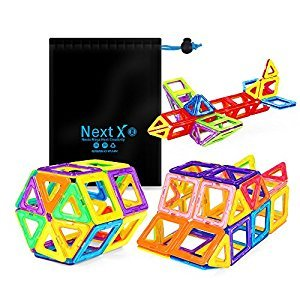 Magnetic Blocks, Stacking Blocks 3D Building Sets 56 PCS, NextX Educational Toys for Toddlers, Christmas Gifts for Girls and Boys