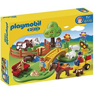 Playmobil 1.2.3 Countryside Building Set