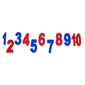 Learning Resources LER2049 Weighted Numbers, Set of 10, Red and Blue