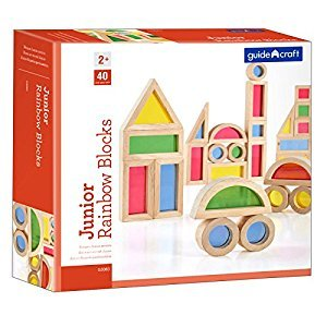 Jr. Rainbow Blocks: 40 Piece Set