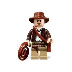 LEGO Indiana Jones Minifigure - Indiana Jones Classic Version with Whip and Satchel (2008)