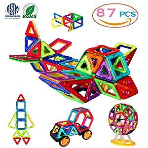 Magnetic Building Blocks, 3D Building Blocks Toys Set 87Pcs, Improve Creativity, Imagination & Brain Development –The Best Constituted Process Of Recreation & Education For Kids