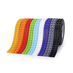 SuSenGo 9 Rolls 9 color 29.5feet/9meter Building Block Tape Roll Self-Adhesive.