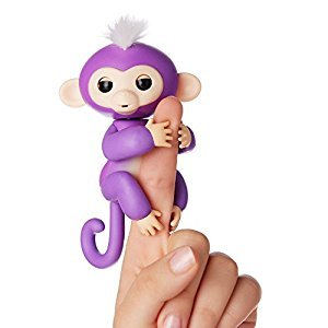 Authentic WowWee Fingerlings - Interactive Baby Monkey - Mia (Purple with White Hair) By WowWee