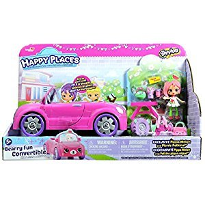 Happy Places Shopkins Bearry Fun Convertible Playset
