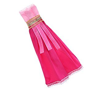 MagiDeal Dolls Dress Clothes For Barbie Doll Dresses Party Evening Gown Robe Skirts Ball Outfit Wear Accessories Exotic Style