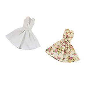 MagiDeal PCS Pretty Floral Dress Skirt Clothes For Barbie Doll Party Evening Gown Outfits Tops Clothing Accs