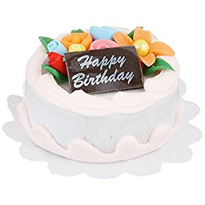 Darice 2318-47 Miniature Happy Birthday Cake, 1