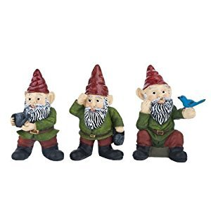 Dollhouse Miniature Three Gnomes