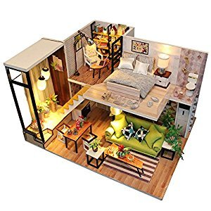DIY House Miniature Dollhouse Kits for Romantic Valentine's Birthday Christmas Gift (Romantic Nordic)