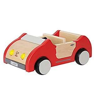 Hape Wooden Doll House Furniture Family Car Play Set