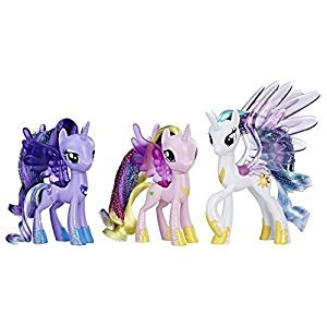 My Little Pony The Movie - Friendship Princess Parade 3 Figure Pack Exclusive - Princess Luna, Princess Celestia, and Princess Cadence
