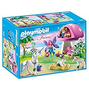 Playmobil 6055 Fairies with Toadstool House Playset