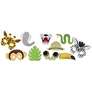10-Piece Photo Booth Prop Kit, Jungle Party