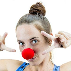 12 Pack Novelty Red Foam Clown Noses – Squishy Red Halloween Cosplay Circus Noses