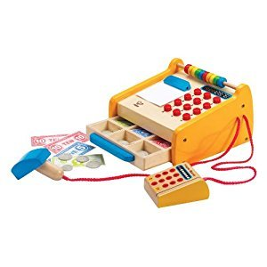 Hape Checkout Register Kid's Wooden Pretend Play Set