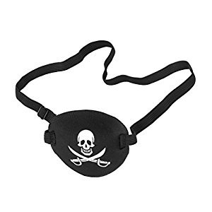 Child Kids Pirate Skull Crossbone Eye Patch Eye Mask Eyeshade for Lazy Eye 0.35 inch