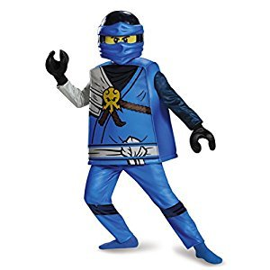 Disguise Costumes Jay Deluxe Ninjago Lego Costume, Large/10-12