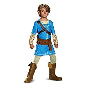 Disguise Costumes Link Breath of The Wild Deluxe Costume, Blue, Small (4-6)