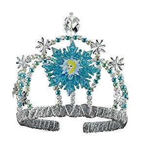 Disguise Disney's Frozen Elsa Tiara Girls Costume, One Size Child
