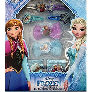 Disney Frozen Elsa and Anna Girls Hair Accessory 18 Piece Gift Set