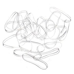 MAXGOODS Clear Elastic Bands Hair Rubber Bands,400PCS