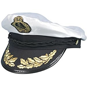 Best Dressed Mens Womens Sea Captain Sailor Navy Marine Ship Fancy Dress Costume Hat by Star55