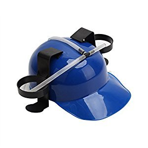 Blue Beer Soda Hard Helmet Hat Party Drinking Hat